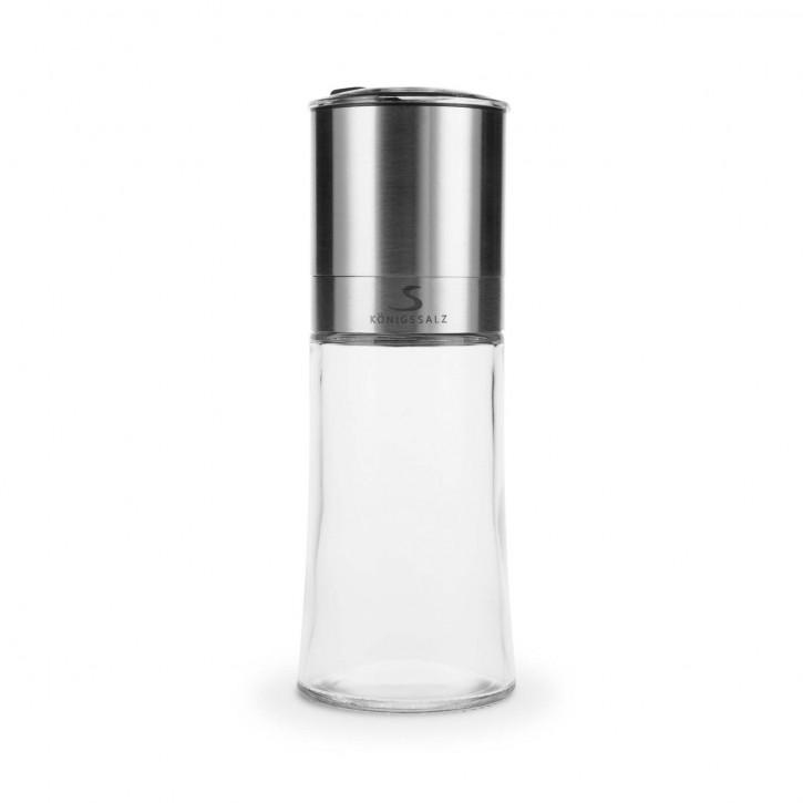 KönigsSalzMühle Glas mit Streuaufsatz leer