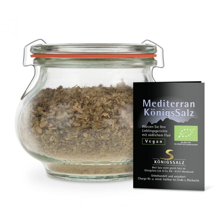 MediterranKönigsSalz Glas 150g aus k.b.A.