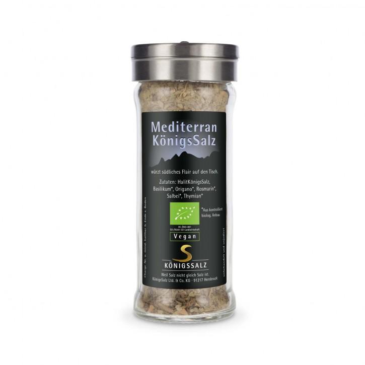 MediterranKönigsSalz GlasStreuer 65g aus k.b.A.