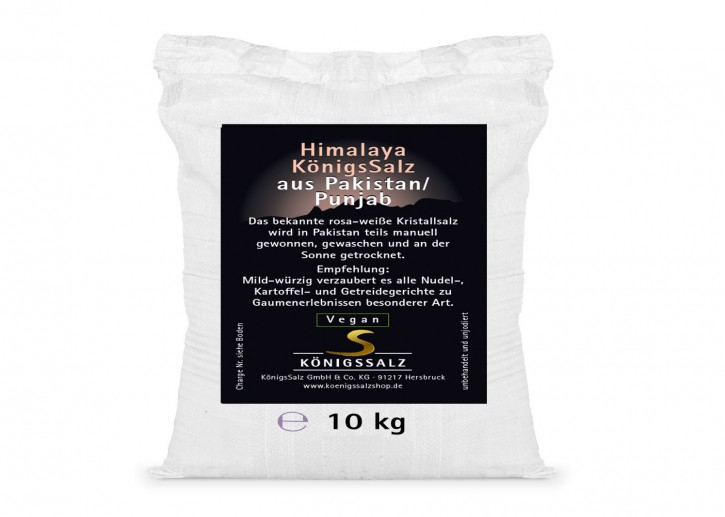 HimalayaKönigsSalz Kristalle Eimer 10kg