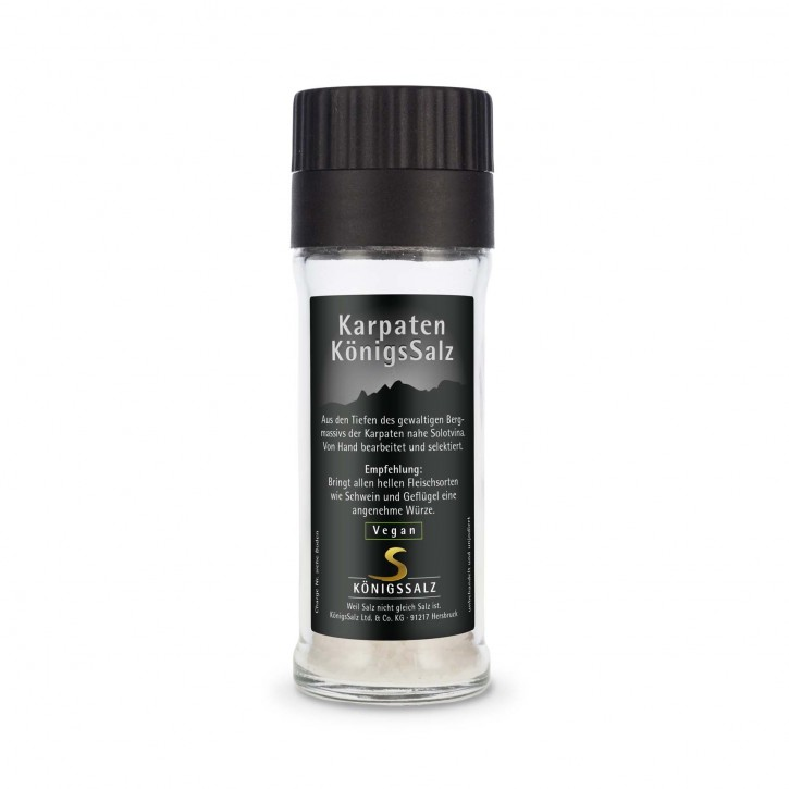 KarpatenSalz Granulat in der GlasEinwegMühle 80g