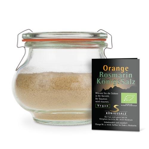 OrangeRosmarinSalz Glas 180g aus k.b.A.