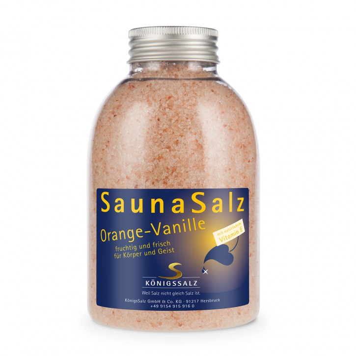 SaunaSalz Orange-Vanille Dose 570g
