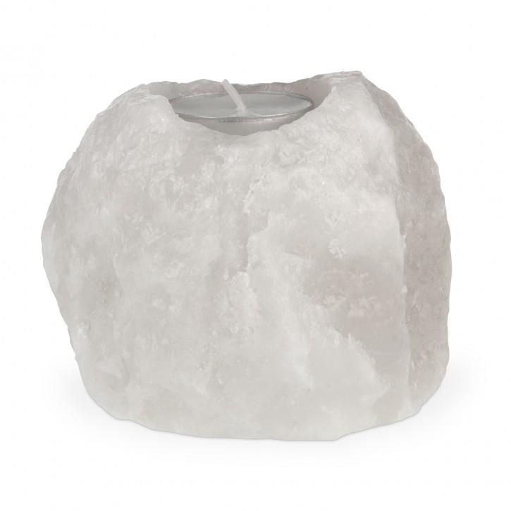 Teelicht Natur 0,8 bis 1,2 kg aus Halitsalz/weiß